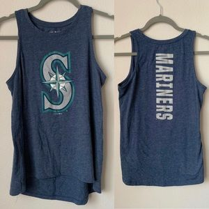 MLB Tops - 4 for $25 | Seattle Mariners tank blue and silver